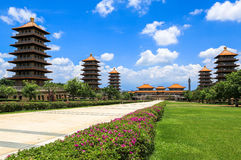 Tempiale in Taiwan fotografia stock