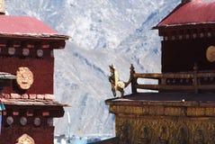 Tempiale tibetano Fotografia Stock