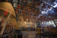 Tempiale Uomo-Mo a Hong Kong Fotografia Stock Libera da Diritti