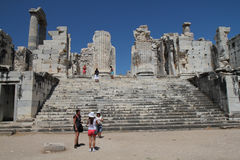 Tempiale visualizzante di Apollonia Immagini Stock Libere da Diritti