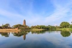 Tempie antiche a Ayutthaya della Tailandia Fotografie Stock Libere da Diritti