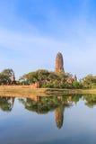 Tempie antiche a Ayutthaya della Tailandia Fotografie Stock
