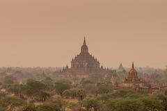 Tempie antiche in Bagan Myanmar Fotografia Stock