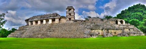Tempie antiche del Maya di Palenque, Messico fotografia stock libera da diritti