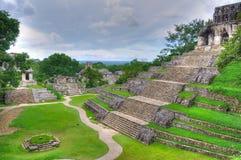 Tempie antiche del Maya di Palenque, Messico Immagine Stock Libera da Diritti