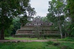 Tempie antiche di Angkor, Siem Reap, Cambogia fotografia stock libera da diritti