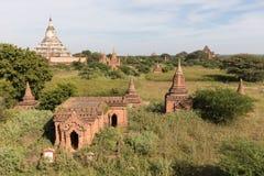 Tempie antiche di Buddha in Bagan, Myanmar (Birmania fotografia stock libera da diritti