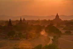 Tempie in Bagan Fotografie Stock Libere da Diritti