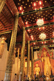 Tempie buddisti di Chiang Mai - interno, Tailandia Immagini Stock Libere da Diritti