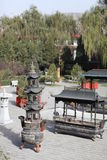 Tempie cinesi Fotografie Stock Libere da Diritti