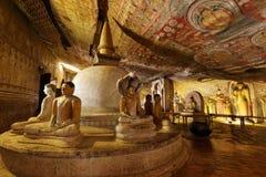 Tempie della caverna di Dambulla nello Sri Lanka fotografie stock