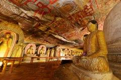 Tempie della caverna di Dambulla nello Sri Lanka fotografia stock libera da diritti