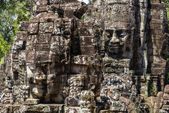 Tempie di Angkor Wat Bayon Fotografia Stock