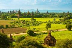 Tempie di Bagan fotografia stock libera da diritti