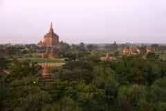 Tempie di Bagan in Myanmar Immagini Stock