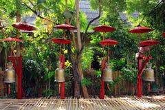 Tempie di buddist di Chiang Mai - Wat Phan Tao immagine stock