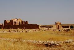 Tempie di Capitoline, Sufetula, Sbeitla, Tunisia Immagini Stock Libere da Diritti