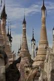 Tempie di Kakku, Myanmar Fotografia Stock