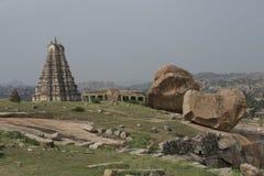 Tempie e rovine di Hampi, India Immagine Stock