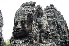 Tempie khmer Prasat Bayon di Angkor alla provincia di Siem Reap Cambogia Fotografie Stock Libere da Diritti