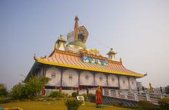 Tempie in Lumbini Fotografia Stock