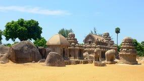 Tempie, Mamallapuram, India Fotografia Stock Libera da Diritti