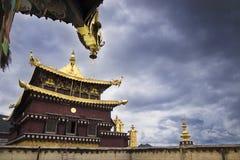 Tempie nel Tibet fotografia stock