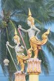 Tempie nell'arte antica della Tailandia Fotografia Stock Libera da Diritti