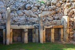 Tempie neolitiche di Ggantija fotografie stock libere da diritti