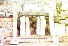 Tempie neolitiche di Tarxien (3000 B C ) Immagini Stock