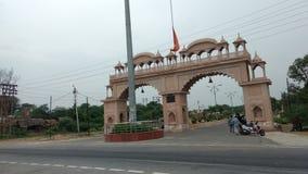 Tempie sulle piccole strade principali indiane di Citi Immagine Stock Libera da Diritti