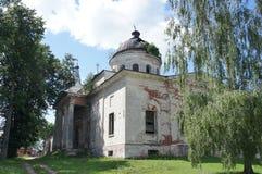 Tempio abbandonato in Kuznetsovo Fotografia Stock