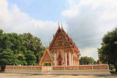 Tempio al saeng di Rong del wat Fotografie Stock Libere da Diritti