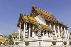 Tempio al suthat di Wat Fotografia Stock Libera da Diritti