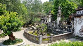 Tempio alla pagoda del profumo a Hanoi Fotografia Stock Libera da Diritti
