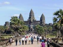Tempio antico Angkor Wat/Cambogia Fotografia Stock Libera da Diritti