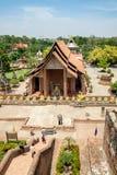 Tempio antico del timpano della chiesa del tempio famoso immagini stock