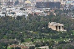 Tempio antico 2010 delle costruzioni dei punti di riferimento di simboli della città a Atene Grecia Immagini Stock
