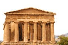 Tempio antico di accordo, Agrigento, Sicilia, Italia Fotografia Stock