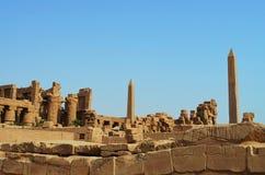 Tempio antico di Karnak dell'Egiziano Fotografia Stock Libera da Diritti