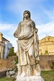 Tempio Antonius Faustina Roman Forum Rome Italy del vergine di vestale immagini stock libere da diritti