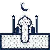 Tempio arabo astratto Ramadan Kareem illustrazione di stock