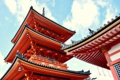 Tempio in autunno, Kyoto, Giappone di Kiyomizu-dera immagine stock libera da diritti