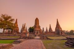 Tempio a ayutthaya Tailandia Immagine Stock Libera da Diritti