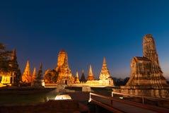Tempio a ayutthaya Tailandia Fotografia Stock Libera da Diritti