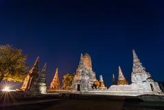 Tempio a ayutthaya Tailandia Fotografie Stock