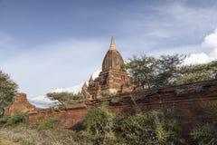 Tempio in Bagan, Myanmar, Birmania Fotografie Stock Libere da Diritti