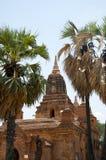 Tempio in bagan un giorno dell'uccellino azzurro Fotografie Stock Libere da Diritti