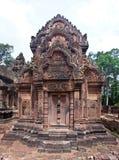 Tempio Banteay Srei di Angkor Fotografia Stock