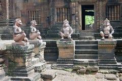 Tempio Banteay Srei di Angkor Fotografie Stock